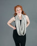 Infinity Shawl - Cream Stripe