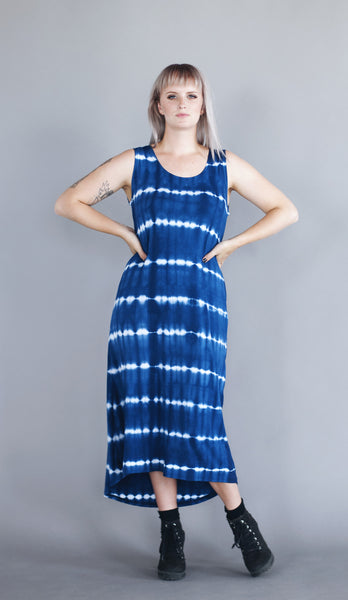 Mariana Dress - Navy Tie Dye