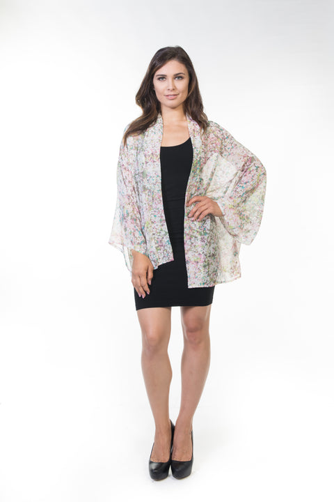 Piper Short Sheer Cardigan - Confetti Floral