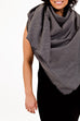 Maya Blanket Scarf - Grey Dot