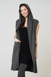 Violet Hooded Sleeveless Duster - 3 Colours
