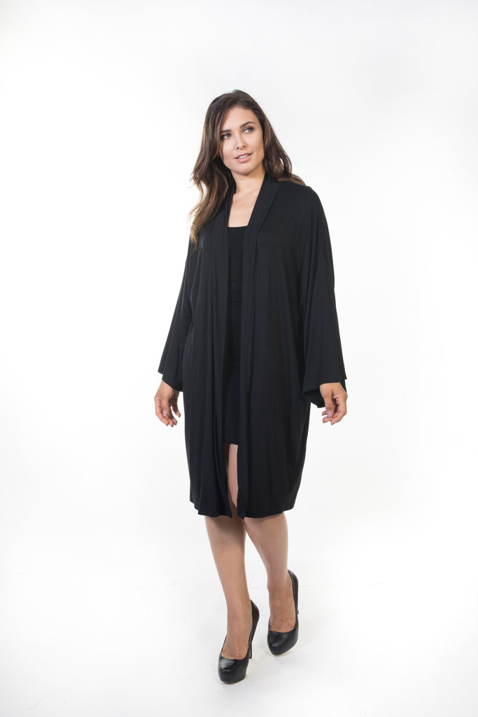 Piper Long Cardigan - Black