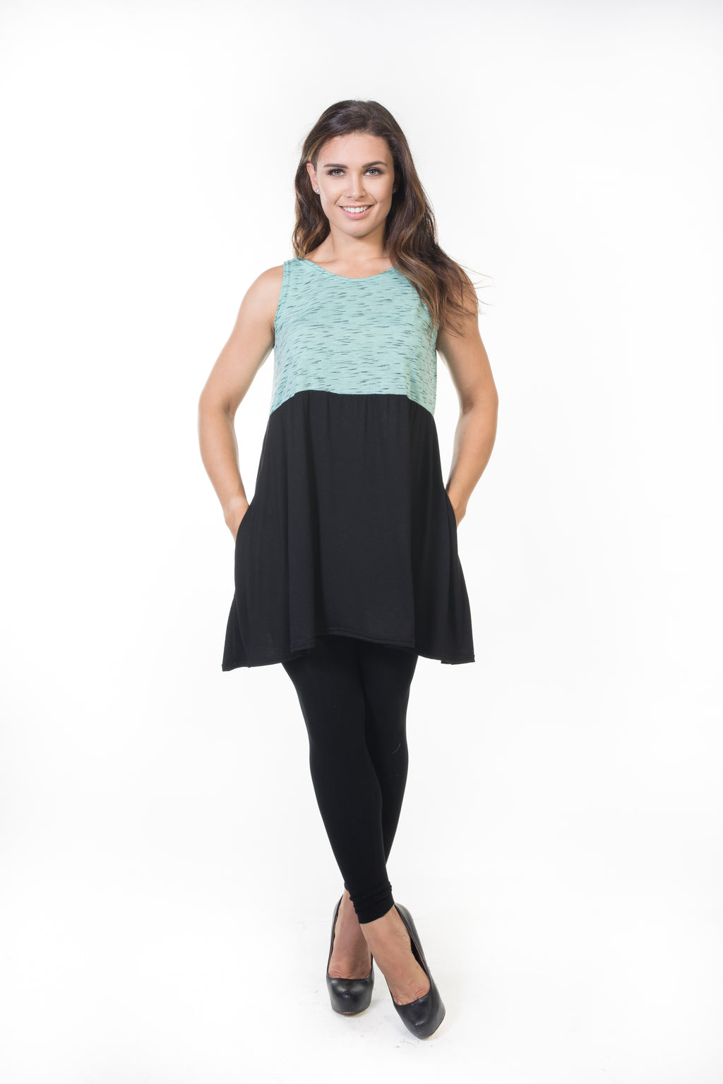 Siri Tunic - Mint & Black