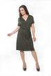 Katrina Wrap Dress - Olive