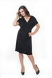 Katrina Wrap Dress - Black