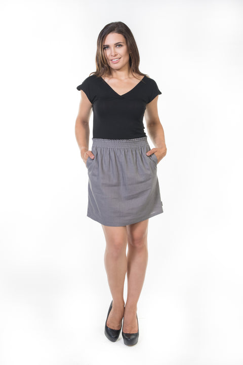 Erin Bubble Skirt - Grey