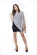 Suzie Poncho - Grey Knit