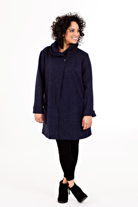Heather Moon Jacket - Navy Moon Dust