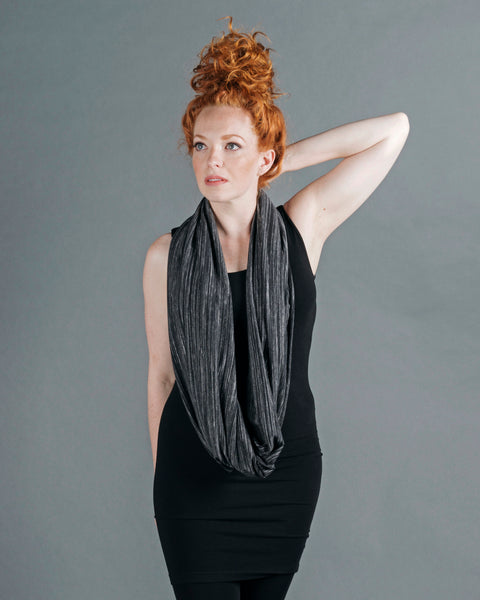 Infinity Shawl - Black Stripe