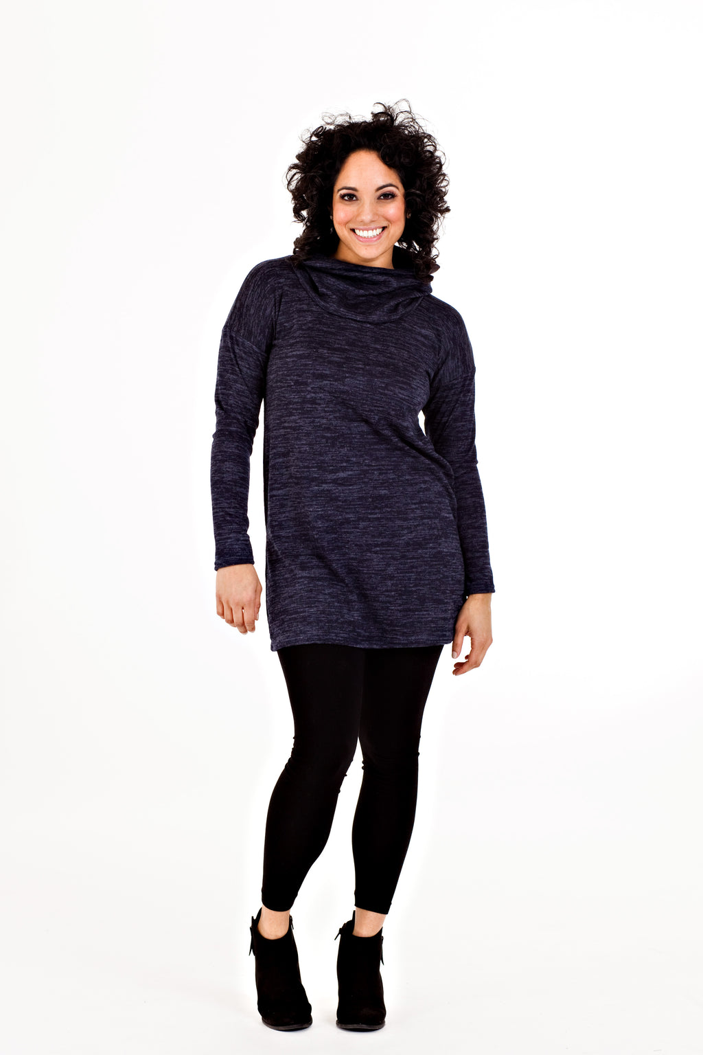 Raina Tunic - Navy Knit