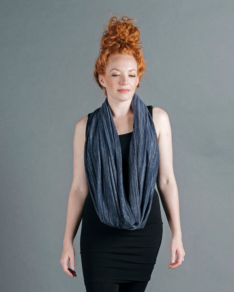 Infinity Shawl - Navy Stripe