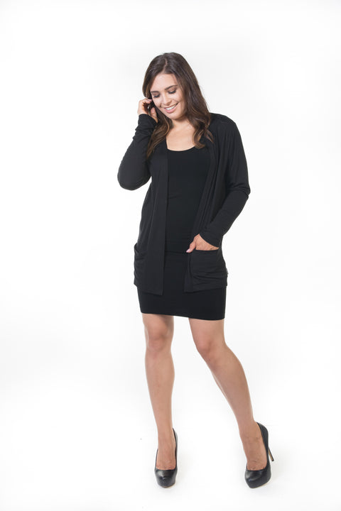 Ivy Short Cardigan - Black