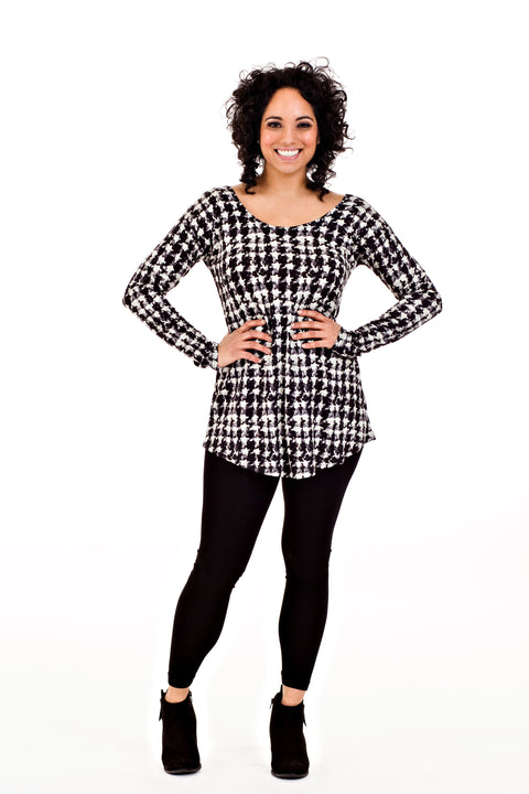 Lindsay Top - Abstract Houndstooth   *50% OFF FINAL SALE