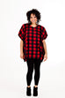 Ricki Poncho - Red Buffalo Plaid