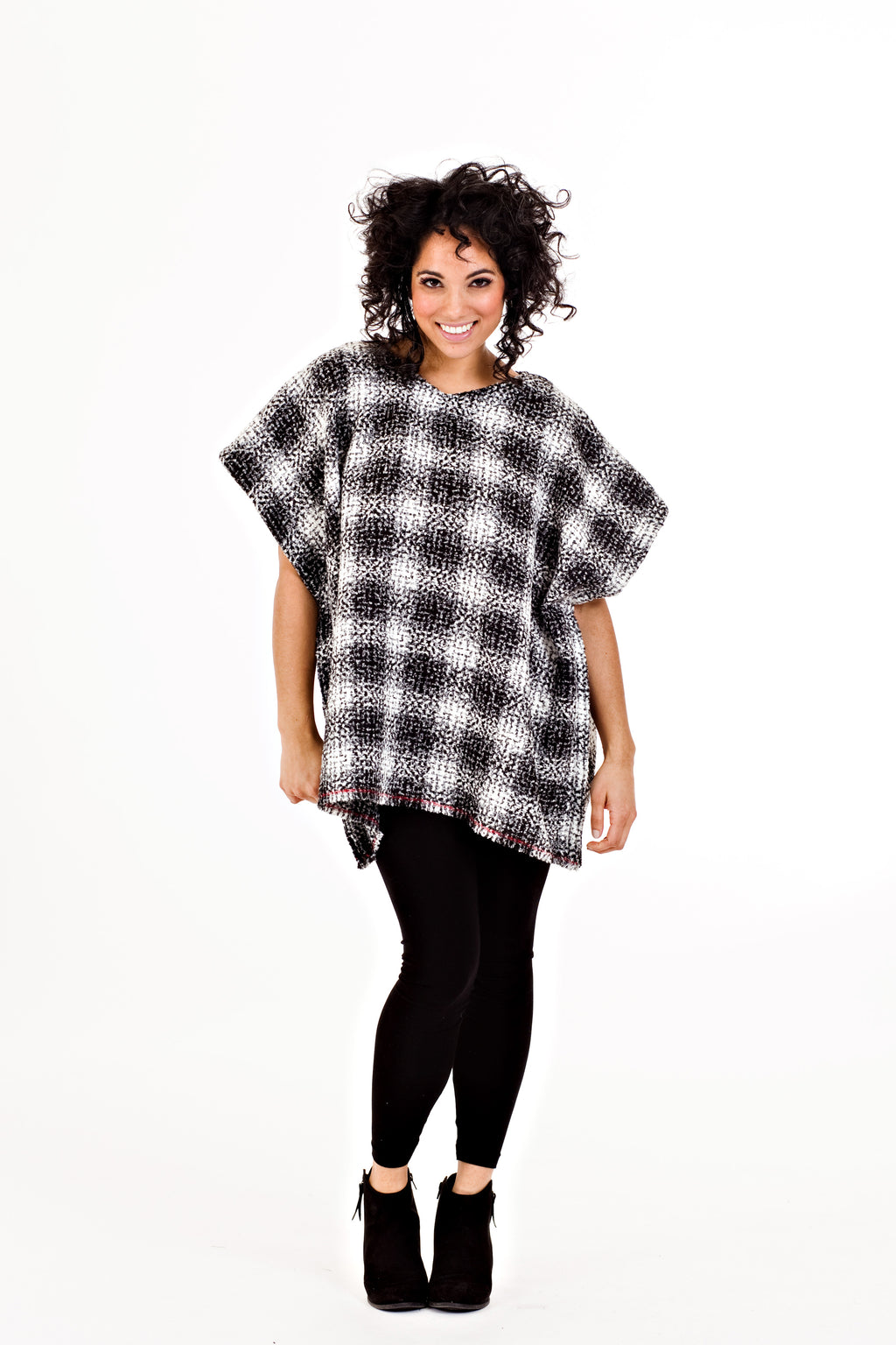 Ricki Poncho - White Tweed   *70% OFF FINAL SALE