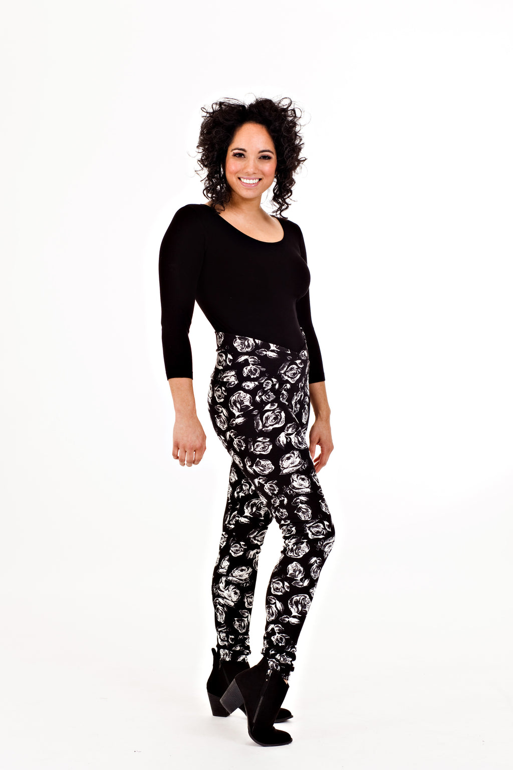Maureen Legging - Black Rose