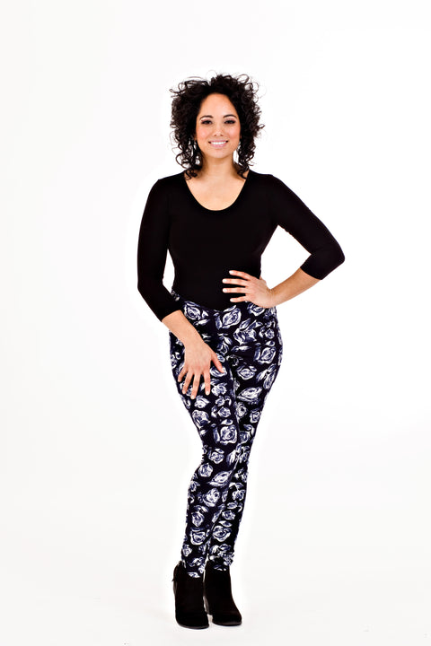 Maureen Legging - Navy Rose