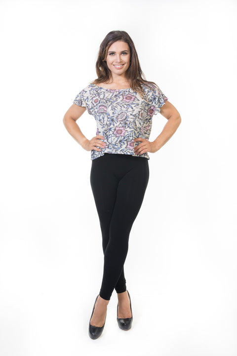 Pippa Top - White Floral   *70% OFF FINAL SALE