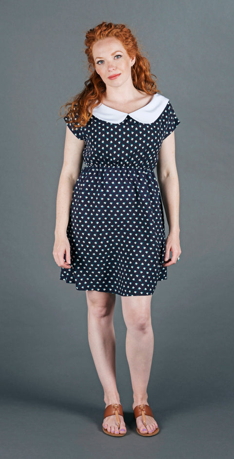 Willow Dress - Navy Tulip