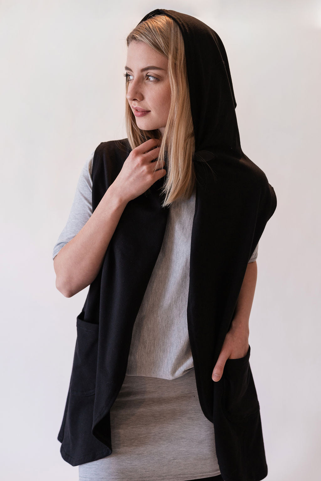 Shirra Hooded Sleeveless Cardigan - 3 Colours