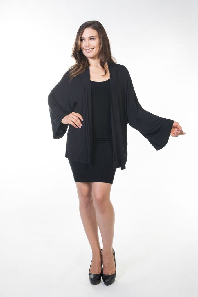 Piper Short Cardigan - Black