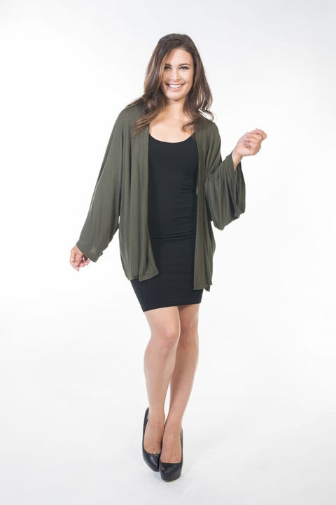 Piper Short Cardigan - Olive