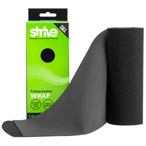 "Strive 6"" compression wrap product display"