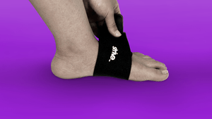 Use Strive's Plantar Fasciitis Support Strap to alleviate foot pain