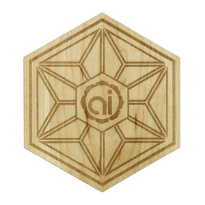 Asanoha Wood Sticker Wood Sticker - Alternative Intelligence - aiapparel