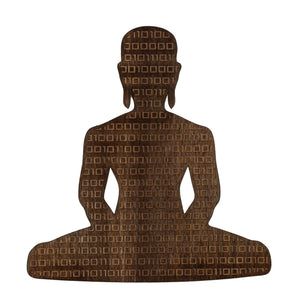Digital Buddha 1.0 Wood Sticker Wood Sticker - Alternative Intelligence - aiapparel