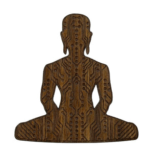 Digital Buddha 3.0 Wood Sticker Wood Sticker - Alternative Intelligence - aiapparel