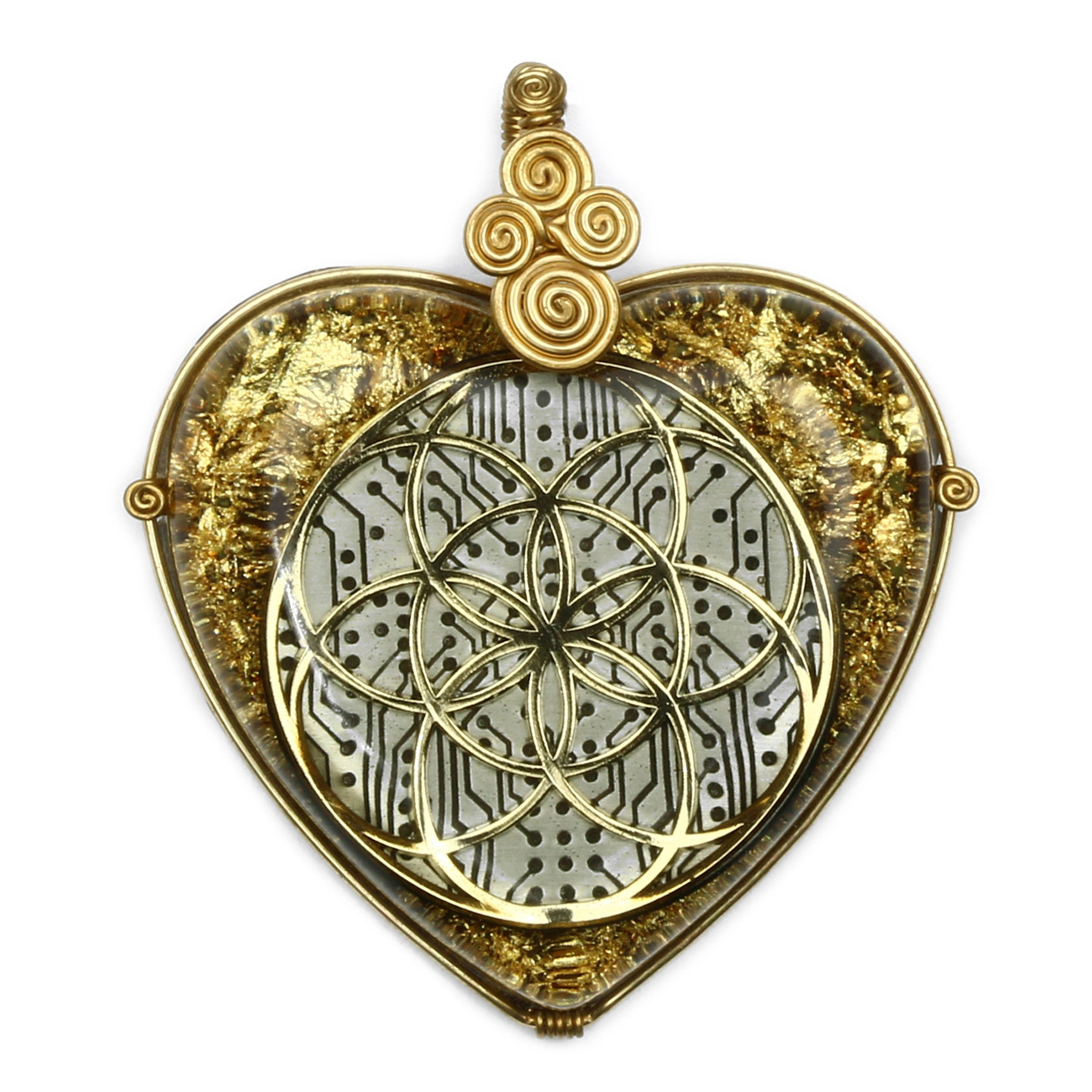 Seed of life orgonite pendant gold alternative intelligence seed of life orgonite pendant gold pendant alternative intelligence aiapparel aloadofball Images