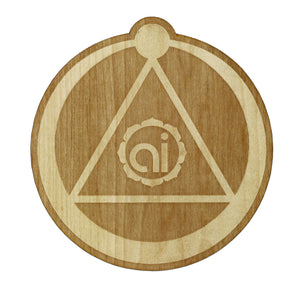 Ouroboros Wood Sticker Wood Sticker - Alternative Intelligence - aiapparel
