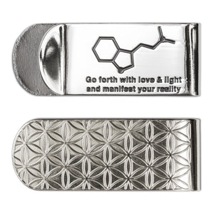 Go forth with love & light and... Money Clip - Alternative Intelligence - aiapparel