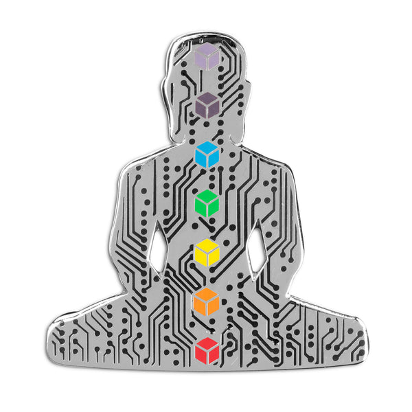Digital Buddha 2.0 Lapel Pin - Alternative Intelligence - aiapparel