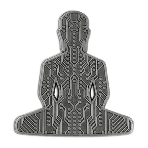 Digital Buddha 3.0 Lapel Pin - Alternative Intelligence - aiapparel