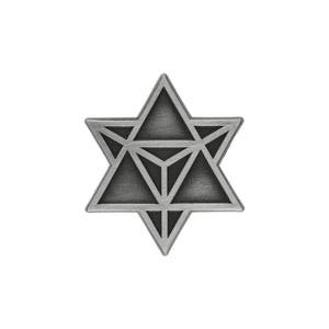 Star Tetrahedron Lapel Pin - Alternative Intelligence - aiapparel