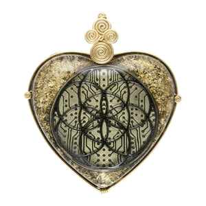 Seed of Life Orgonite Pendant (Black) Pendant - Alternative Intelligence - aiapparel