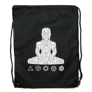 Digital Buddha Drawstring Bag Bag - Alternative Intelligence - aiapparel