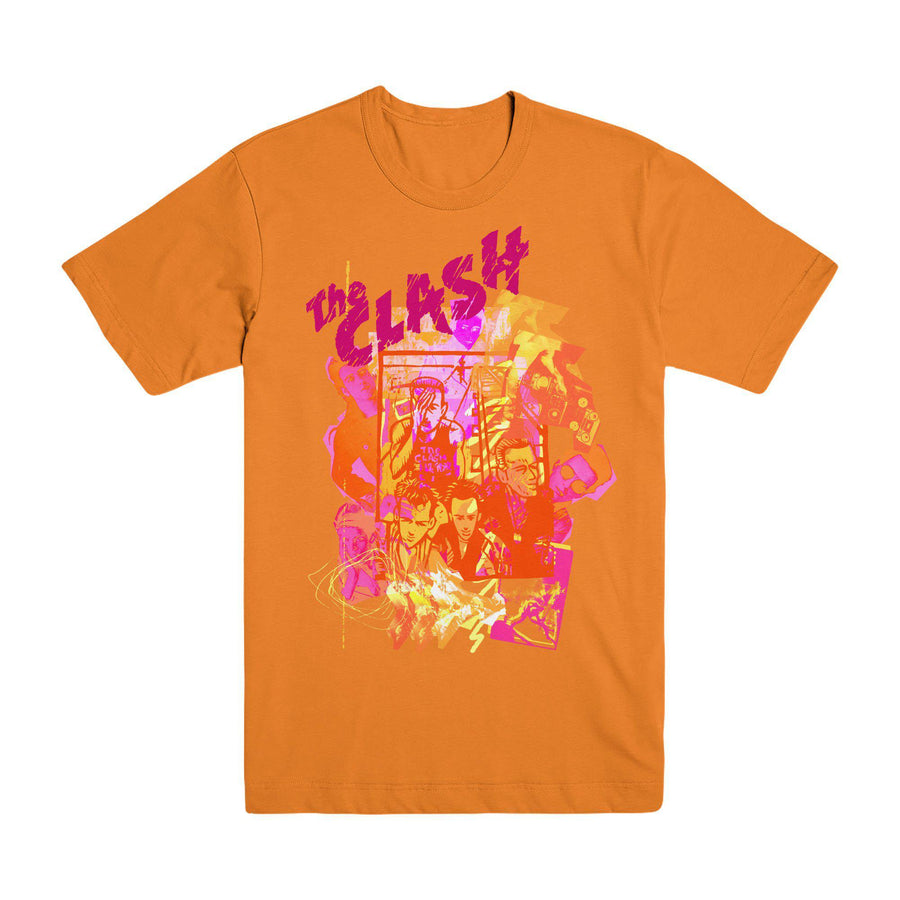 Animation Orange T-shirt-The Clash