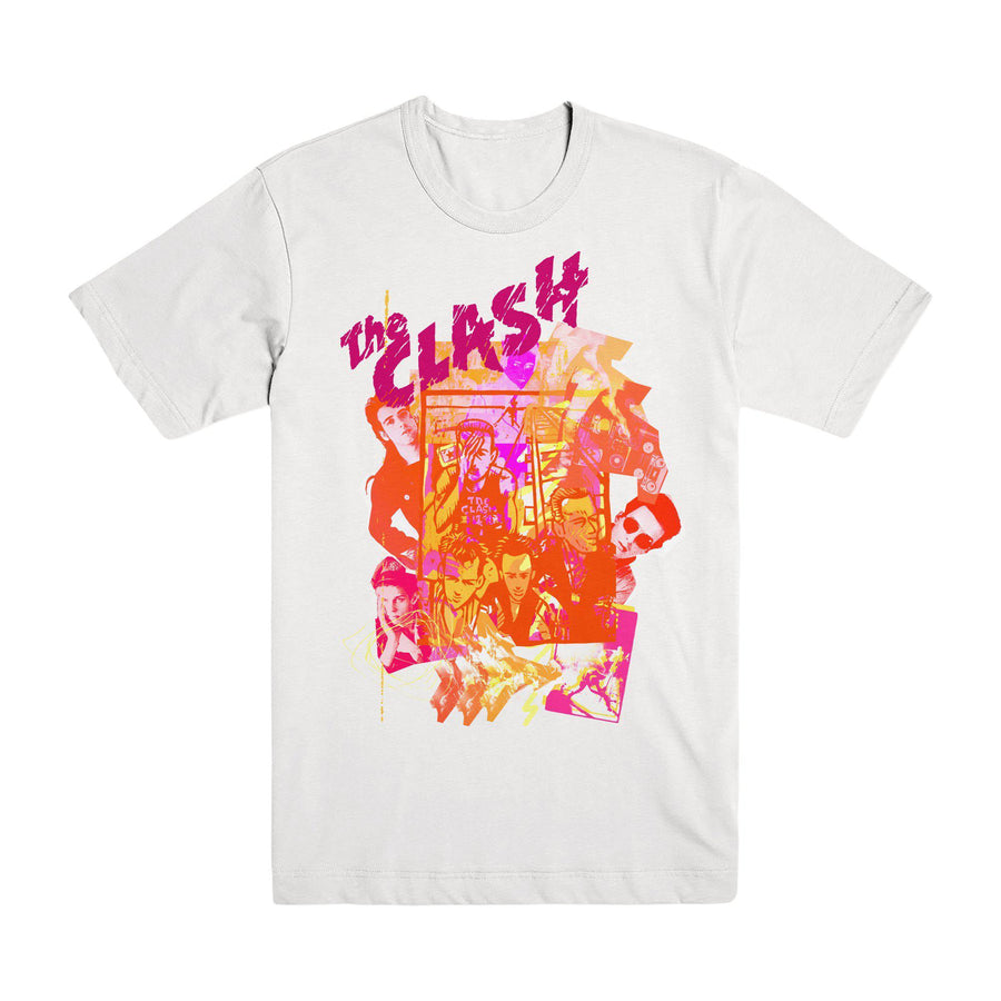 Animation White T-shirt-The Clash