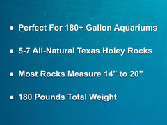 180 lbs. of LARGE Size Texas Holey Rock - FREE SHIPPING