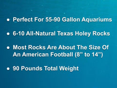 90 lbs. of MEDIUM Size Texas Holey Rock - FREE SHIPPING