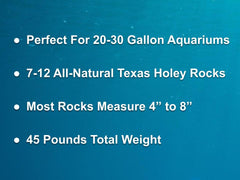 45 lbs. of SMALL Size Texas Holey Rock - FREE SHIPPING