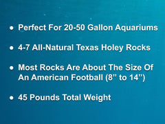45 lbs. of MEDIUM Size Texas Holey Rock - FREE SHIPPING