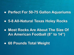 60 lbs. of MEDIUM Size Texas Holey Rock - FREE SHIPPING