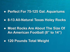 120 lbs. of MEDIUM Size Texas Holey Rock - FREE SHIPPING