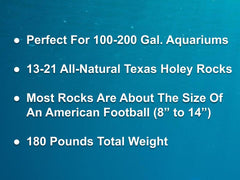 180 lbs. of MEDIUM Size Texas Holey Rock - FREE SHIPPING