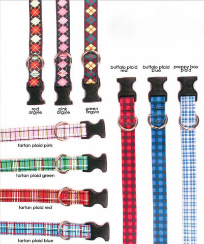 Plaid & Argyle Leashes & Collars