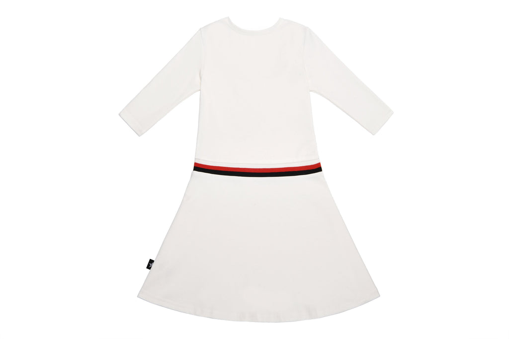 Girls' Low-waisted White Jumper